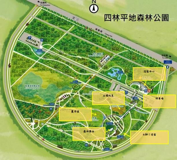 屏東潮州四林平地森林公園地圖